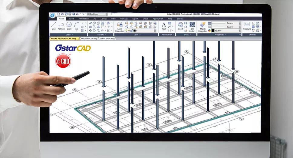Projektowanie belki żelbetowej w GstarCAD 2018 i e-CAD. Zobacz filmy z webinarów dla projektantów konstrukcji budowlanych