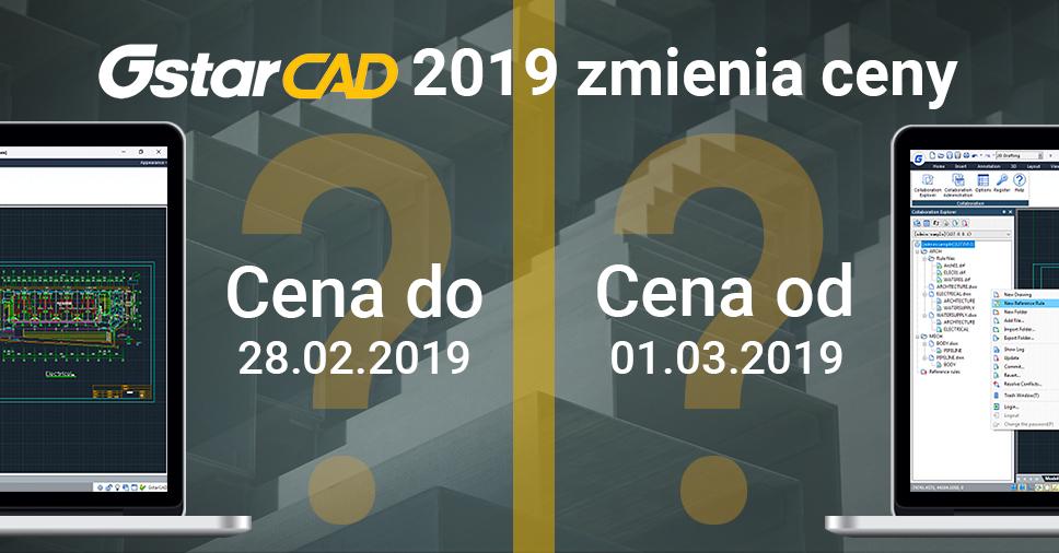 Zmiana cen licencji programu GstarCAD
