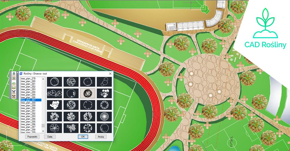 CAD Rośliny - Nowa biblioteka dla użytkowników GstarCAD