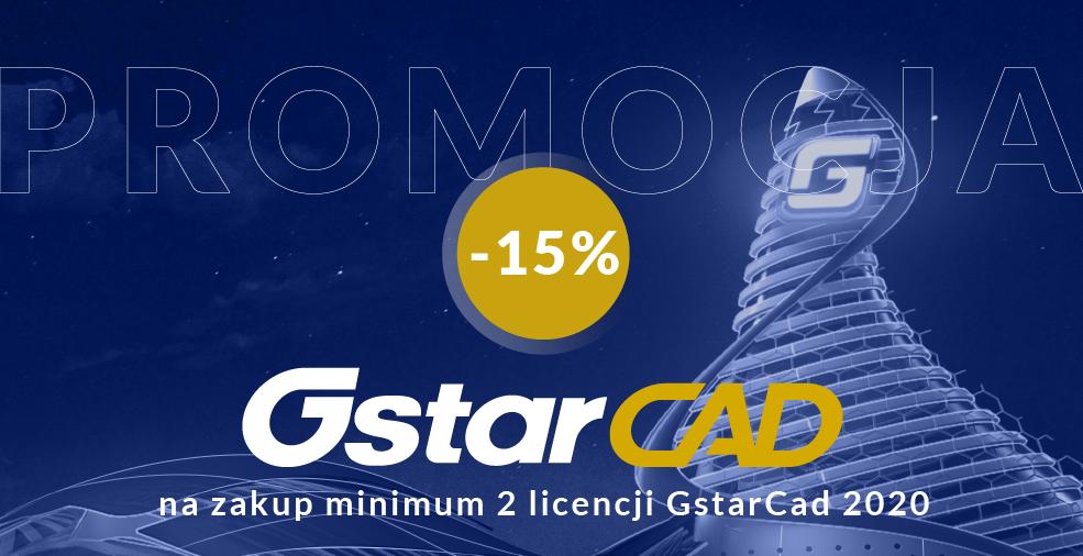 Promocja: 2 licencje GstarCAD 2020 – 15% taniej!