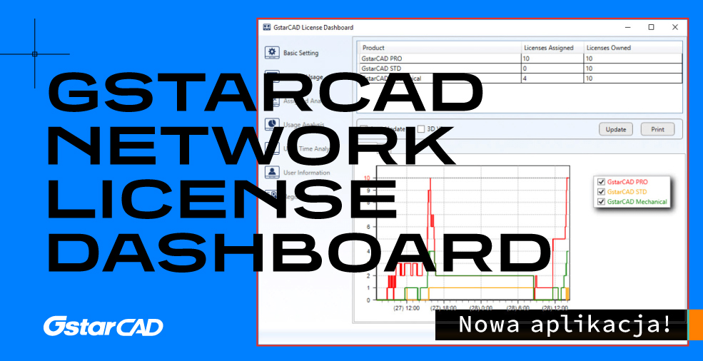 GstarCAD Network License Dashboard